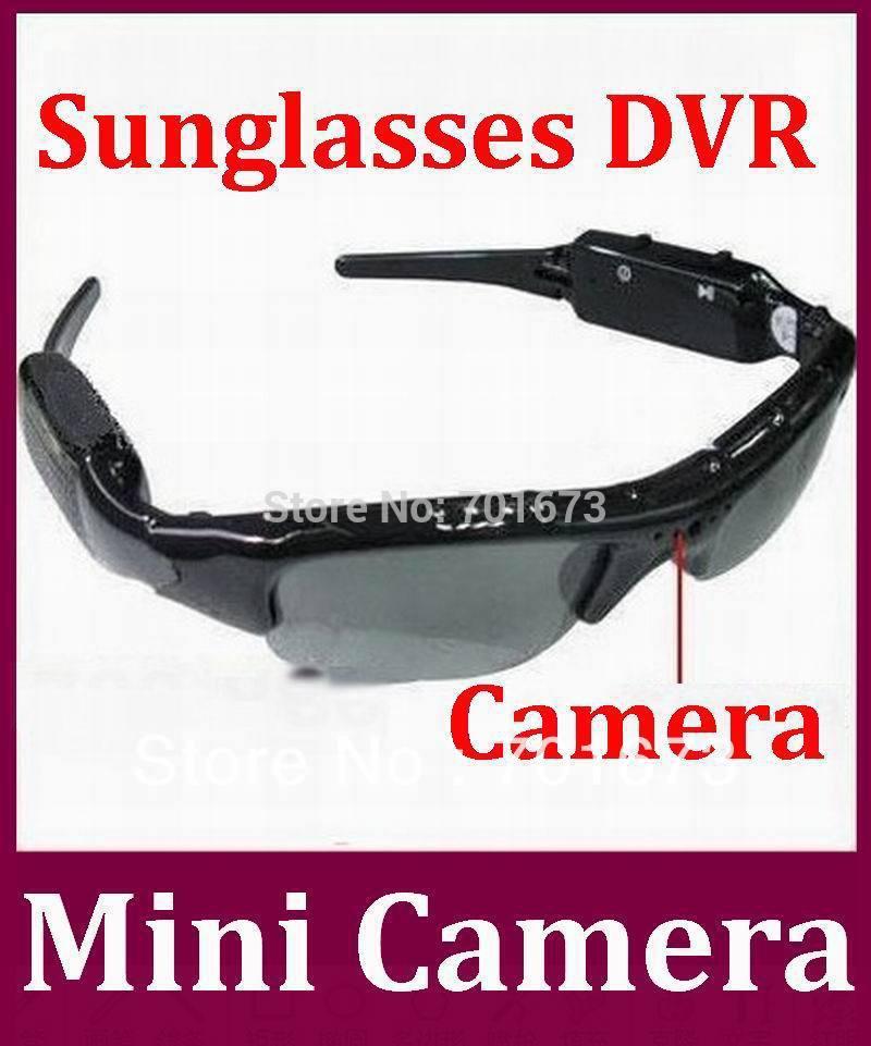 HD Camera DVR Sunglasses Camera Audio Video Recorder Sport Camcorder DVR Mini Camera with retail box 100pcs/lot Free DHL(China (Mainland))