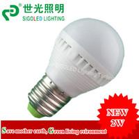 2W LED Bulb AC90-260V  SMD E27,B22, E14 available