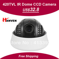 SONY 633/632+3142, 420TVL,4-9mm Varifocal manual Lens 22leds Plastic IR dome Camera,3-Axis , free shipping