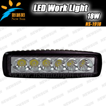 Free shipping Factory sale Waterproof 18W Led Work Light/ Work lamp for offroad, truck, suv, atv etc led fog light