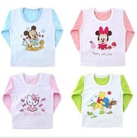 CL0068 Free shipping 1pc Baby Long-sleeve T-shirt, Cartoon pattern T-shirt, Tops tees Summer Wear Baby Clothes