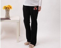 2014 New Overall Thickening Maternity Pants Winter, Pregnant Clothes/loose Sport Trousers,casual/home Wear,black/gray, 10200032
