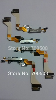 100%  High quality  Dock connector  charging  port   USB   flex cable   for iphone  4 4G   replacement
