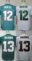 Miami #13 Dan Marino Men's Authentic Throwback 1994 Team Green/White Football Jersey