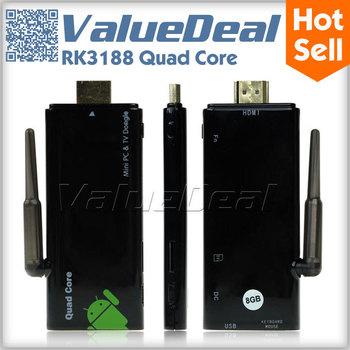 Original CX918 CX-919 CX 919 ii RK3188 Quad Core Android TV Box Mni PC Smart TV Receiver Media Player 2GB RAM 8GB ROM BT HDMI