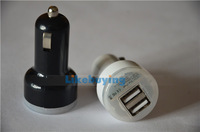 819 Big Sale Universal DUAL USB Car Charger Auto Adapter For Iphone / Samsung / HTC / Nokia /  and for Ipad