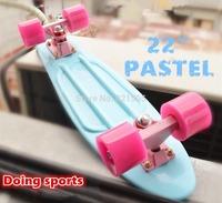 Pastel Color Penny Style Skateboard 22Inch Complete skating mini longboard Gift Retro Cruiser fish long board skate