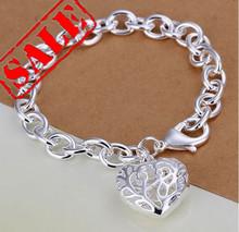 heart bracelets silver promotion