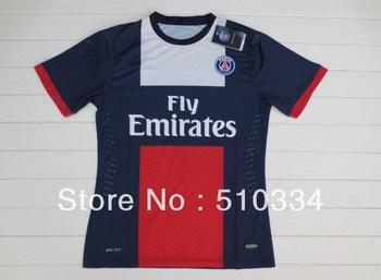 Free Shipping!!! 13/14 PSG Home Jersey, PSG Thailand Quality football Jerseys+Player Version Paris Saint Germain soccer Shirts
