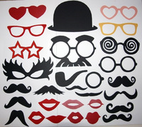 29pc Mustache On A Stick Photo Booth Props Fun for Wedding Parties Birthday Xmas