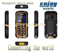 "New Enjoy W28 Unlocked 2.2"" Screen Big button Dual SIM Outdoors Rugged IP67 waterproof GSM Waterproof Senior cell phones"