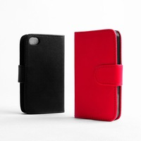 6 Gifts! 2014 New Style PU Leather Case For iphone 4 4s Case Cover Protective Dirt proof + Screen protector film + stylus pen