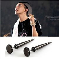 316L Stainless Steel Spiked Cool Punk Big Men's Stud Earrings For Man Gift 2014 New Fashion Jewelry Free Shipping