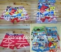 Free shipping 12pcs/dozen cartoon image boys style Nine cartoon image flat underwear panties, underpanties/underpants