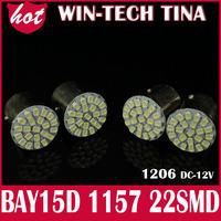 4pcs/lot  S25 1157 BAY15D 3020 22SMD LED 12Volt lamp Auto Car Turn Lamp Brake Tail Bulbs  free shipping