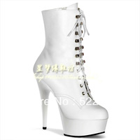 [(My God)] hot Free shipping 2013 new ankle-length 15cm 20cm platform high-heeled white red black mirror white dull shoes boots
