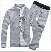 New 2014 spring men's sports suit sweatshirt men's casual jacket and pants 2pcs sportwear sports set  for men casual set M-XXXL