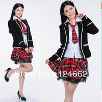 school uniforms long-sleeve  wear  class service costumes for girls sailor suit work uniforms costume  wholesale clothing