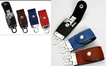 usb leather drive 256GB USB Flash drive,  accessories Novelty , Disk Stick Key Chain Swivel 10PSC