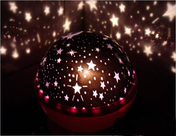 Free Shipping New Romantic Amazing Star Lover II Color Changing LED Flash Projector Projection Night Light Lamp,TY005(China (Mainland))