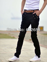 Fast shipping! black color classic style Men casual pants Korean Trousers 8370