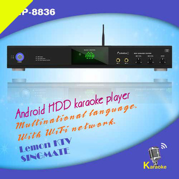 8836(#2) Android lemon KTV player with 1080P,Build-In MIC echo,Air KTV via iPhone/Android phone,Support over 3TB HDD. AGC/AVC