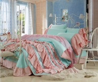 4pcs Pink Princess Queen Size Comforter Set Beautiful Bedspreads Kids Bedding Set King Size Lovely Bed Linen For Children