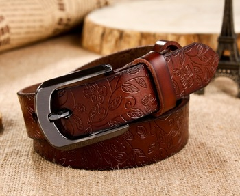 Free shipping/leather belt for woman/ steel buckle/waistband//wlb011/Genuine leather/puretail or wholesale