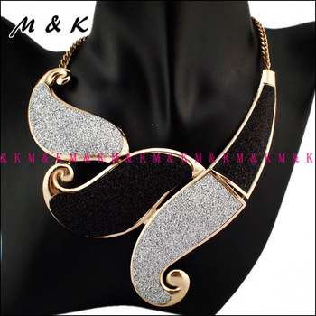 Fashion Frosted Surface Wavy Pendant Choker Necklaces,Women Costume Jewellery,Bib Collar For Dress Accessories,Free Shipping