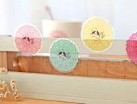 Yellow transparent stickers,gift sticker/foods bag sticker/sealing sticker,Size:W4cmXL4cm 600pcs/lot Free Shipping