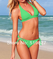 2014 sexy usa secret neon Padded swimsuit the bathing suit discount monokinis bandage bikini swimwear for women swimming wear