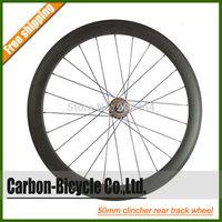 700C 50mm rear clincher carbon fixed gear fixie bike wheel track bicycle wheel flip-flop