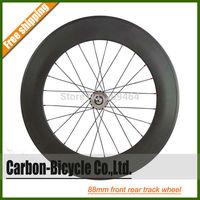 700C 88mm rear tubular carbon fixed gear fixie bike wheel track bicycle wheel flip-flop