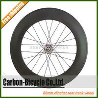 700C 88mm rear clincher carbon fixed gear fixie bike wheel track bicycle wheel flip-flop