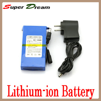 Rechargeable Lithium-ion power 6800 mAh Li-ion Battery Pack DC 12V 6800mAh batteries charger for Bike Lamp,LED,CCTV camera 12680