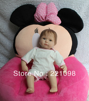 Free shiping new fashion lifelike reborn dolls for girls and boys soft toy Silicone Vinyl dolls doll kit