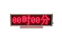 Red Badge LED Moving Sign Rechargeable/Edit By PC/Message/Scrolling/Programmable Display Desk Board 3piece/lot