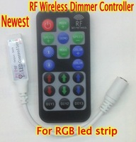5pcs/Lot Newest ! Multi-function 12-24V 12A 288W Mini RF Wireless Remote Led Dimmer Controller For RGB Color Led Light Strip