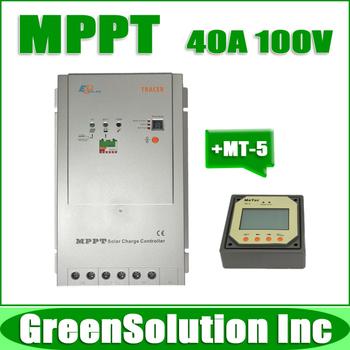 2013 NEW, Max. PV 100V, 40A MPPT Solar Charge Controller Regulator 12V/24V PV Power System with MT-5 Remote Meter, Tracer4210 RN