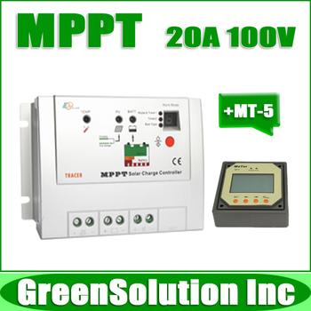 NEW! Max. PV 100V 20A MPPT Solar Charge Controller Regulator 12V/24V Off-Grid PV System Controller with MT-5 Remote Meter