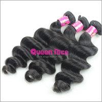 QNice Hair DHL Free Shipping 6A No process Malay Hair Loose Wave 10pcs/ Lot Hair Extensions Natural  Color