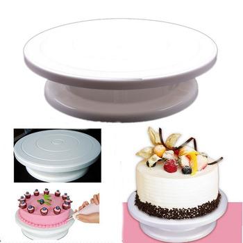 "Popular Pro 11"" Rotating Revolving Cake Sugarcraft Turntable Decorating Stand Platform #23500"
