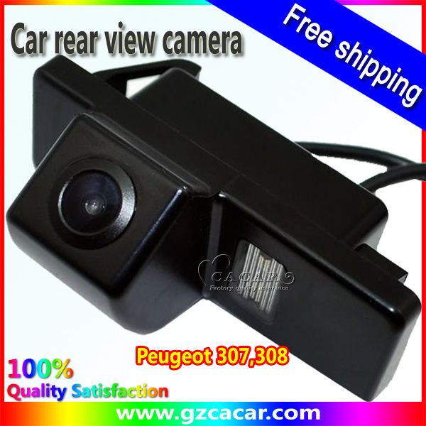 Free shipping!car rearview camera for Peugeot 307,308 hatchback with night vision(China (Mainland))