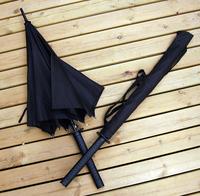 Hot sale freeshipping semi-automatic umbrellas frozen parasol windproof japanese samurai katana with carrying strap