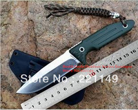 NEWEST ! Y-START green ghost tactical survival knife ATS-34 blade with satin finish G10 handle with Kydex sheath Free shipping!