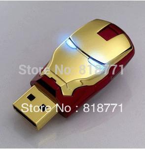 Iron Man Cool usb flash drive, full capacity Genuine 4G 8G 16G 32G USB Memory Stick Flash Pen Drive free shipping
