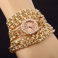 New fashion women's clothing 2014 watches quartz watch luxury chain length