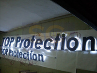 custom-made weatherproof painted metal signboard led backlit halo channel letters advertising board