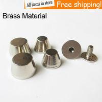 100Pcs Brass material spikes bucket Screwback stud Spike silver