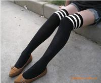 YBB G006 Korea Thick Cotton Striped Knee Socks Striped Bars Cotton Knee Socks Stockings 85g
